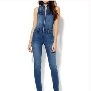 NY&CO Jeans Jumpsuit.